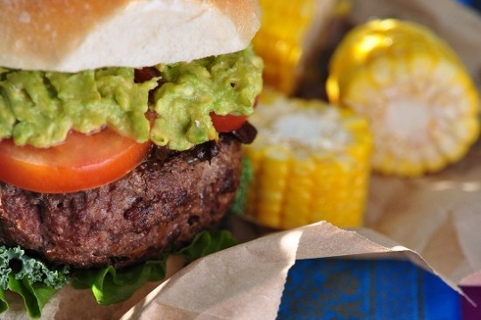 Burger with Basil Guacamole