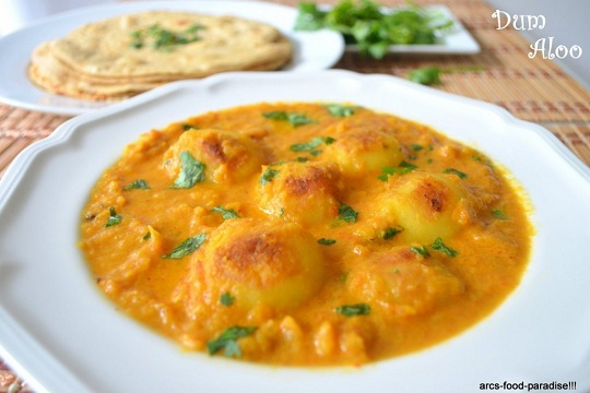 Dum Aloo (Baby Potatoes in a Spicy Gravy)