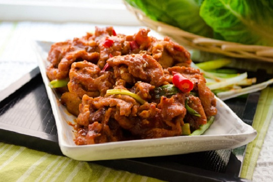 Jeyuk Bokeum (Korean Spicy Pork)