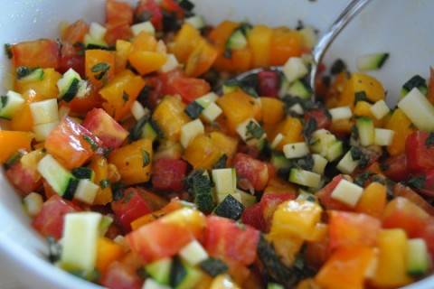 Summer Heirloom Tomato and Corn Salsa