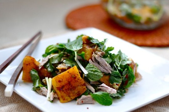 Asian Duck and Pumpkin Salad