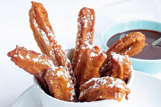 Pumpkin Churros with Cinnamon Chocolate Sauce