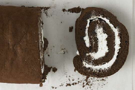Chocolate Rum Swiss Roll