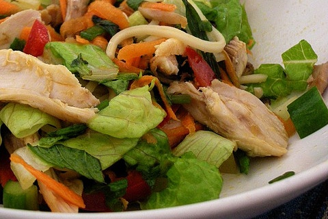 Asian Chicken Noodle Salad Photo by Skatzenell