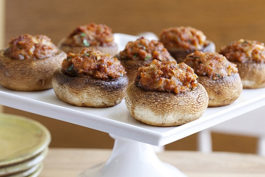 Chorizo and Manchego Cheese Stuffed Mushrooms