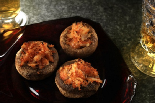Crab and Fontina Stuffed Mushrooms