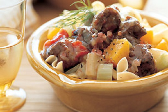 Pork Stew with Fennel and Butternut Squash from Epicurious Photo by Mark Thomas