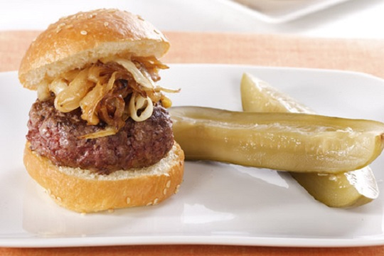 Ground Beef Sliders on Brioche from Martha Stewart