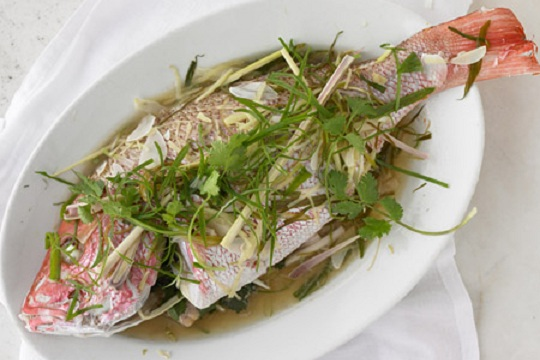 Steamed Whole Fish from Martha Stewart