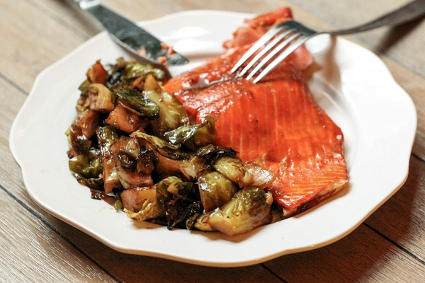 Three-Ingredient Maple Glazed Salmon from Ring Finger Tan Line
