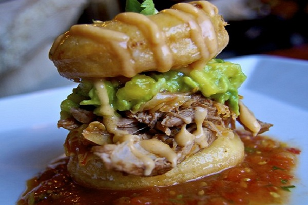 BBQ Pulled Pork Donut Sandwich