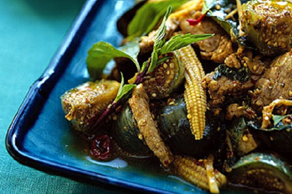 Jungle Curry with Pork and Thai Eggplant from Epicurious Photo by George Whiteside
