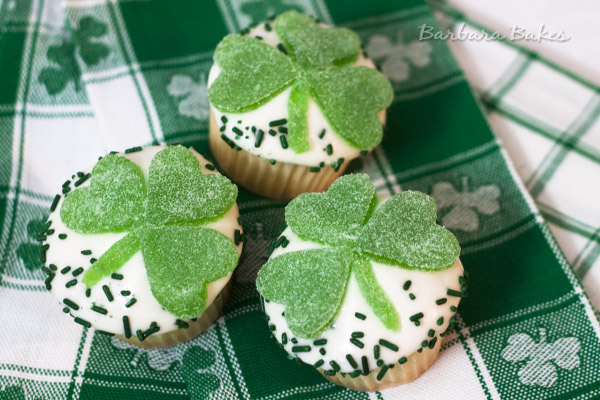 Lemon Shamrock Cupcakes from Barbara Bakes