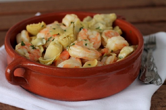 Marinated Shrimp and Artichokes from Culinary Colleen