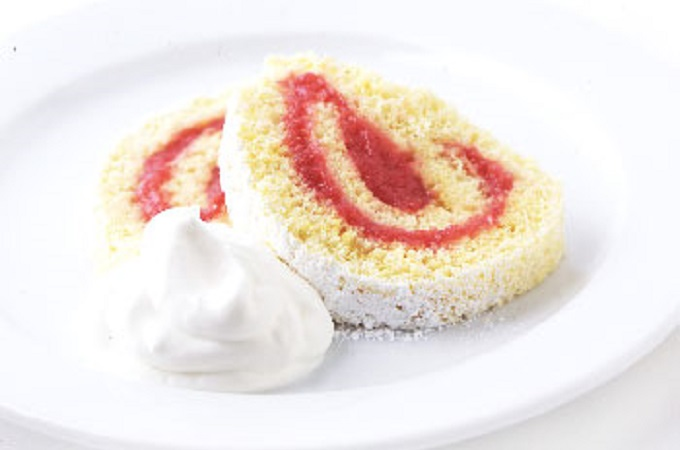 Rhubarb Roulade from Epicurious Photo by Romulo Yanes