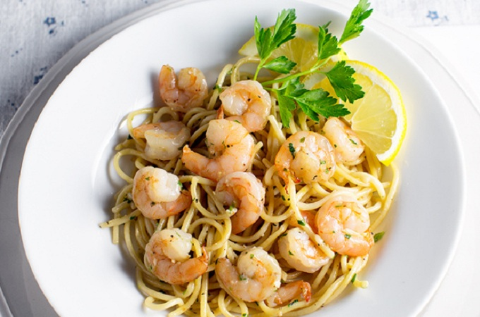 Shrimp Scampi from We Call Him Yes! Chef!