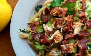 Bacon and Chicken Avocado Cream Pasta Header