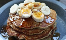 Coconut Banana Pancakes from Skinnyluscious Header